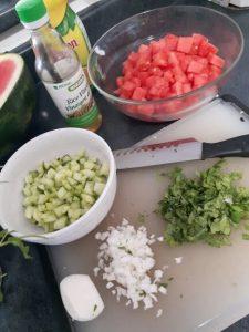 Watermelon Salad Ingredients